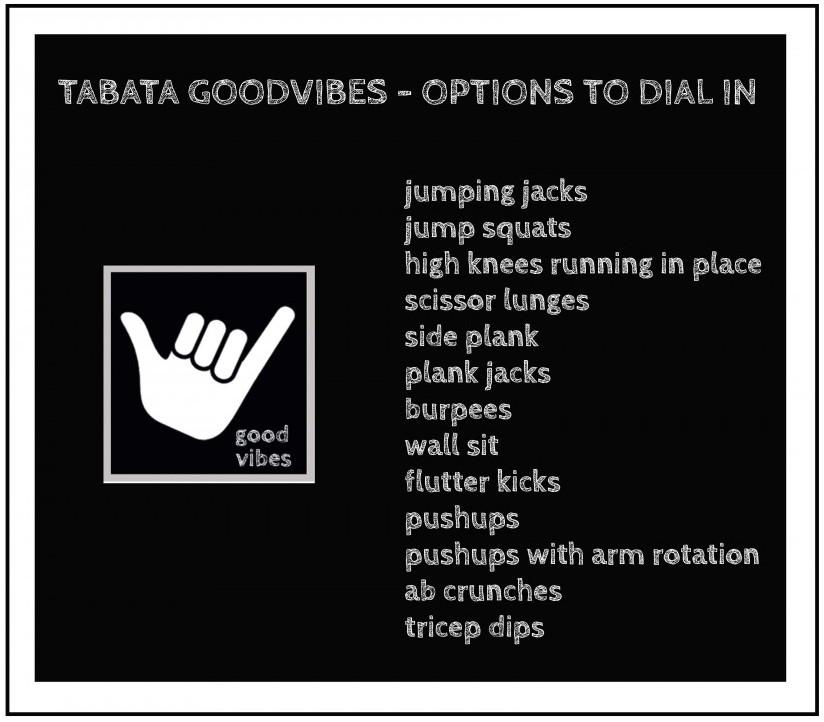 tabata goodvibe dial in