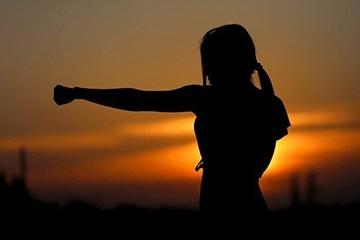 power woman silhouette