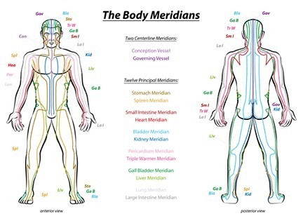 the energy meridians map