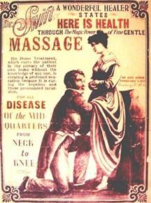 vintage massage poster