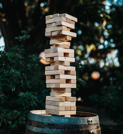 think of your system like jenga blocks
