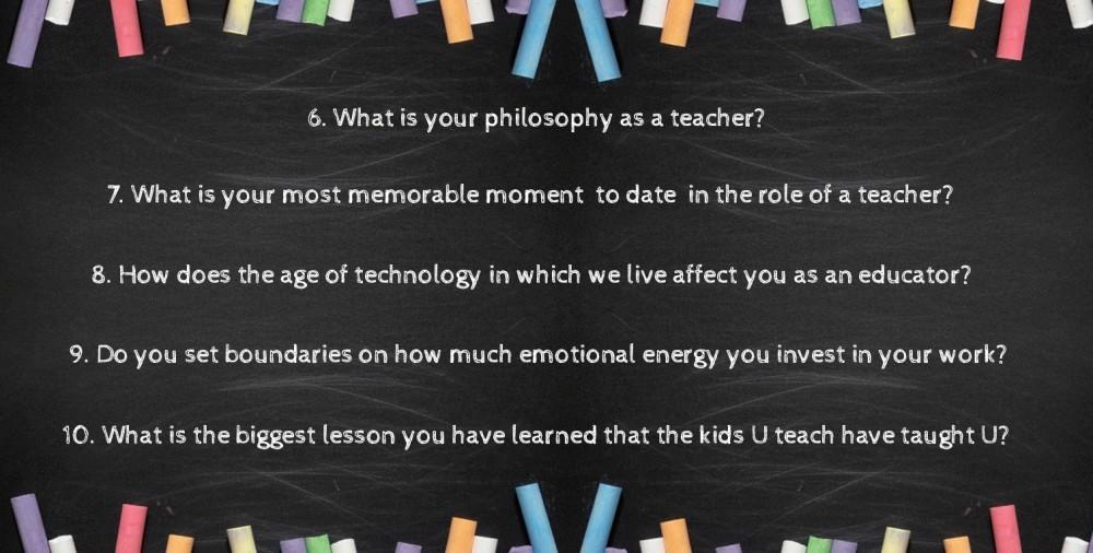 more teacher questions
