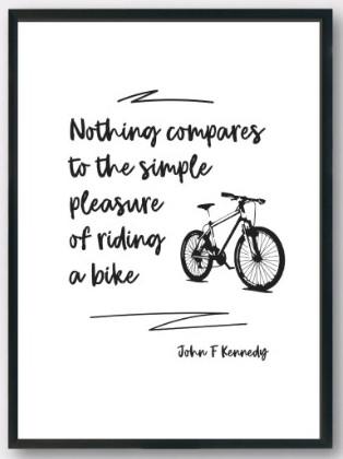 pleasure in bike riding
