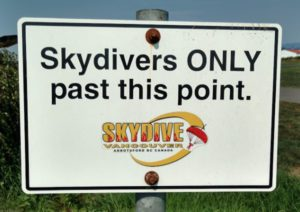sky divers only
