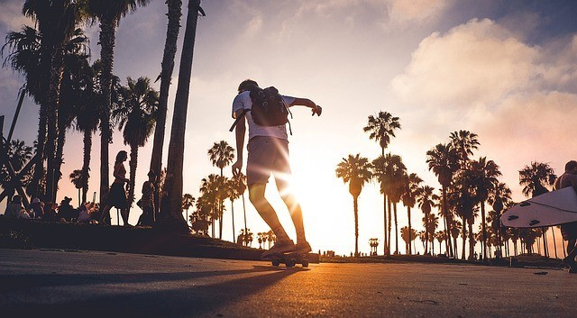 longboard into the sunset