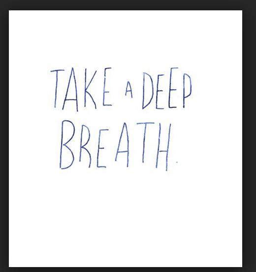 take a deep breath image