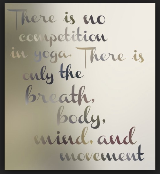 no competition in yoga