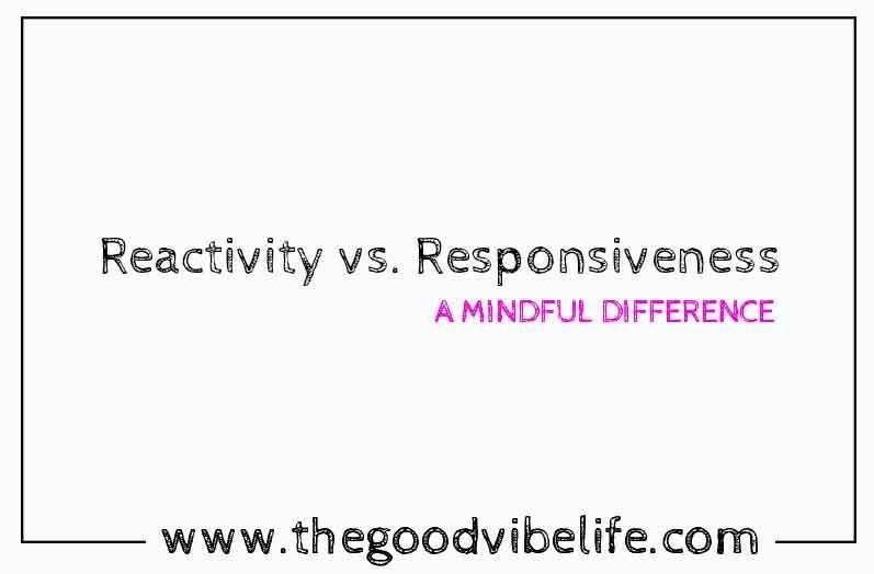 reactivity versus responsiveness