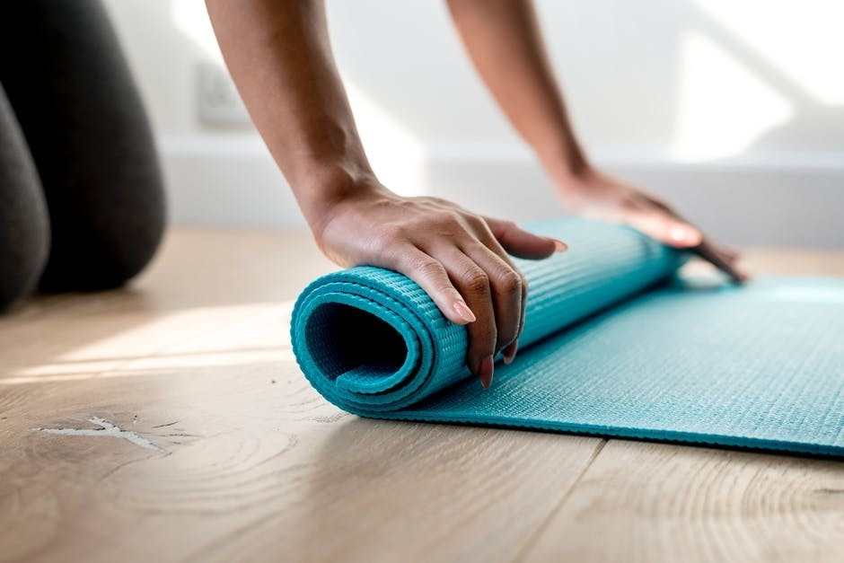 roll out the yoga mat