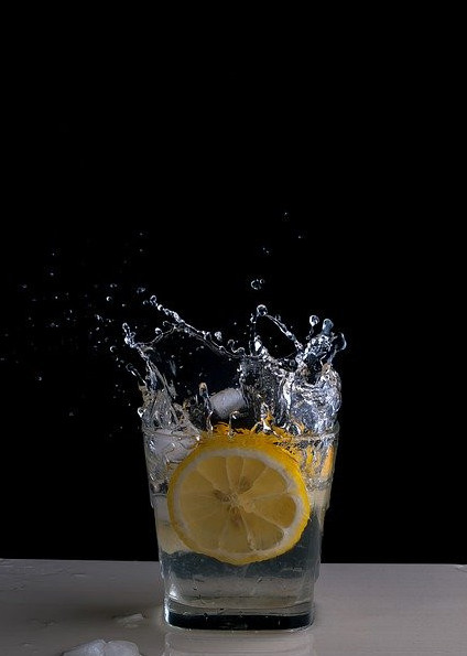 Lemon splash water