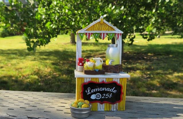 Standing in lemonade