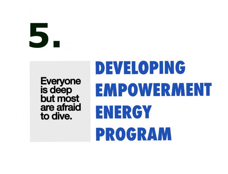 Developing empowerment energy program week five