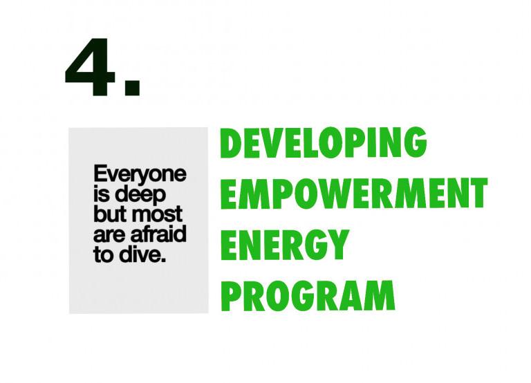 Developing empowerment energy program week four