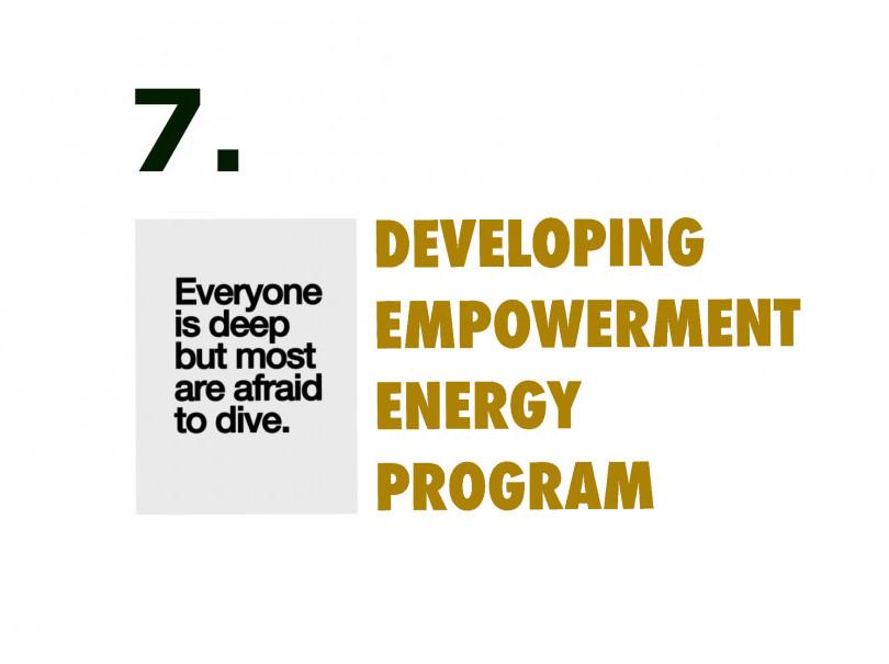 Developing empowerment energy program week seven