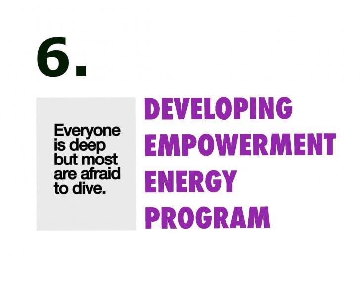 Developing empowerment energy program week six